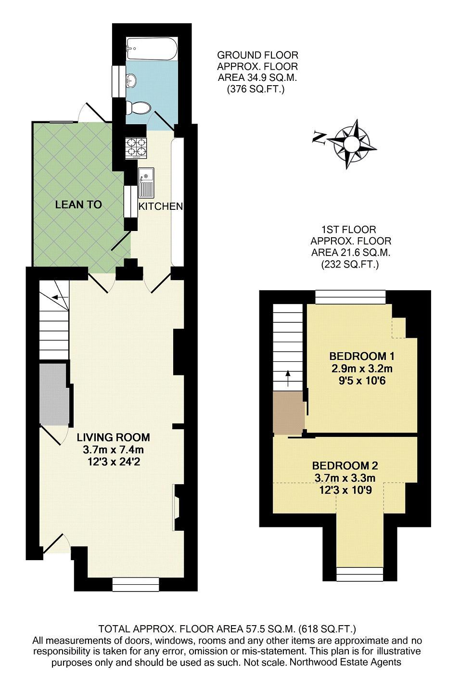 2 bedroom terrace to rent in highgrove street reading for Highgrove house floor plan