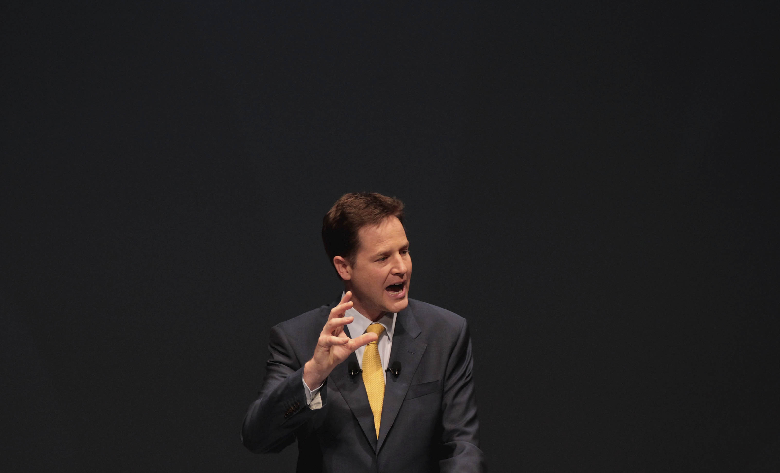 Deputy Prime Minister Nick Clegg Addresses The Liberal Democrat Party Conference