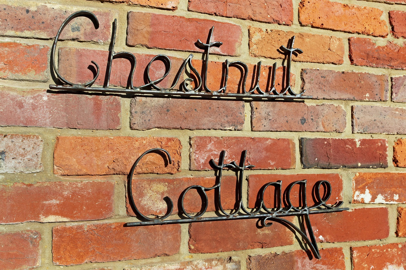 Chestnut Cottage sign resized