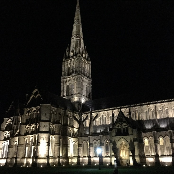 Salisbury Cathedral night time