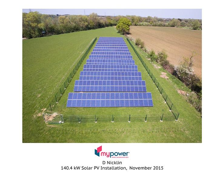 Gound mounted solar panels