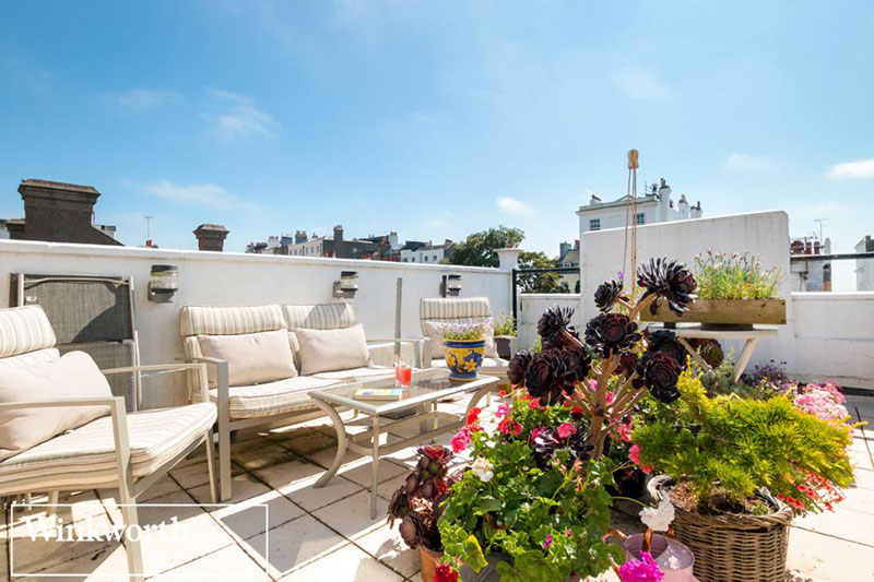 three bedroom home in brighton with roof terrace