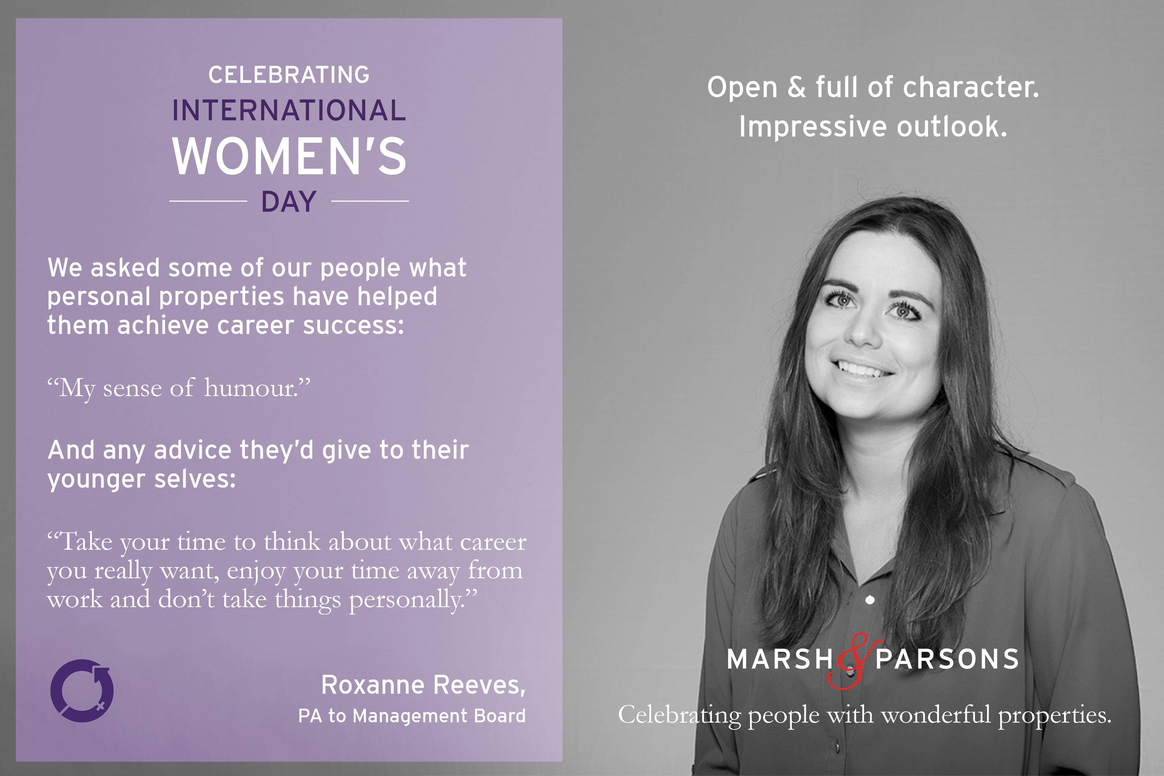Roxanne Reeves, International Women's Day