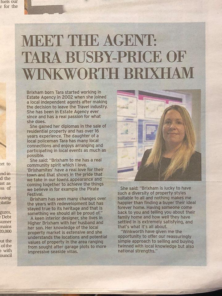Tara Busby-Price Brixham - Meet the Agent, Winkworth Torbay