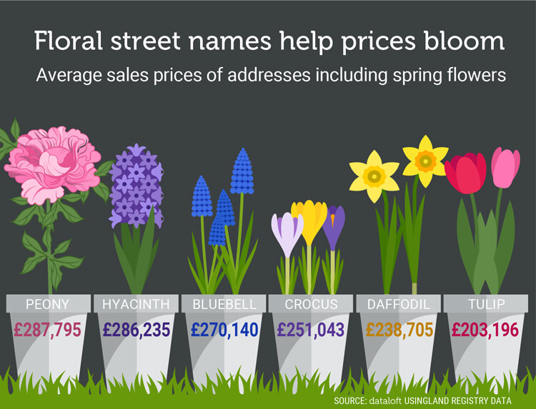 Floral street names help house prices bloom expert estate agents while the recent british weather may have had other ideas tuesday 20th march marks the first day of spring after a long chilly winter gardens across the mightylinksfo