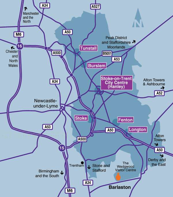 Map Of Stoke On Trent Stoke on Trent   Area Guide, 6 towns map
