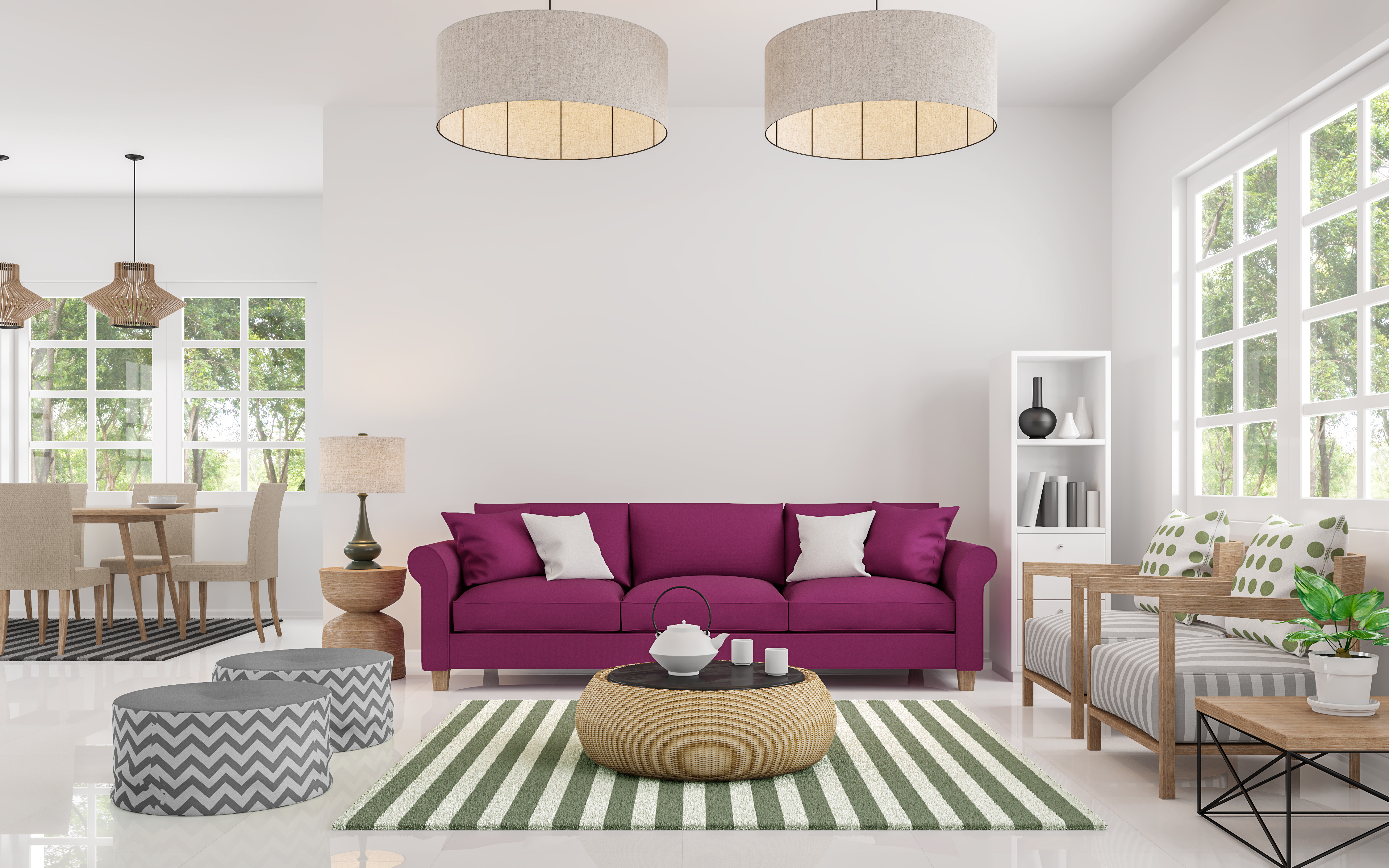 Blank canvas interior design style