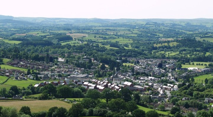 A stunning view of Builth Wells