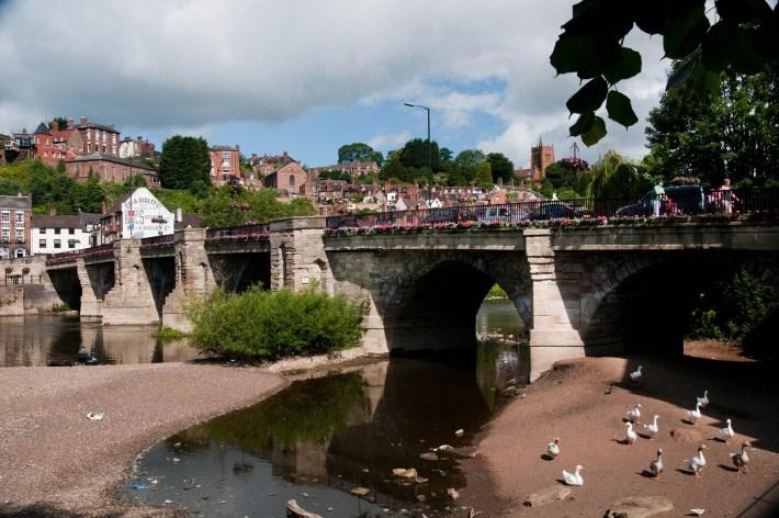 The River Seven running through Bridgnorth