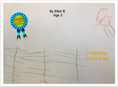 Monkey in the trees by Elliot Bloomfield, Age 3
