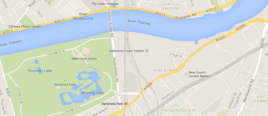 battersea power station map