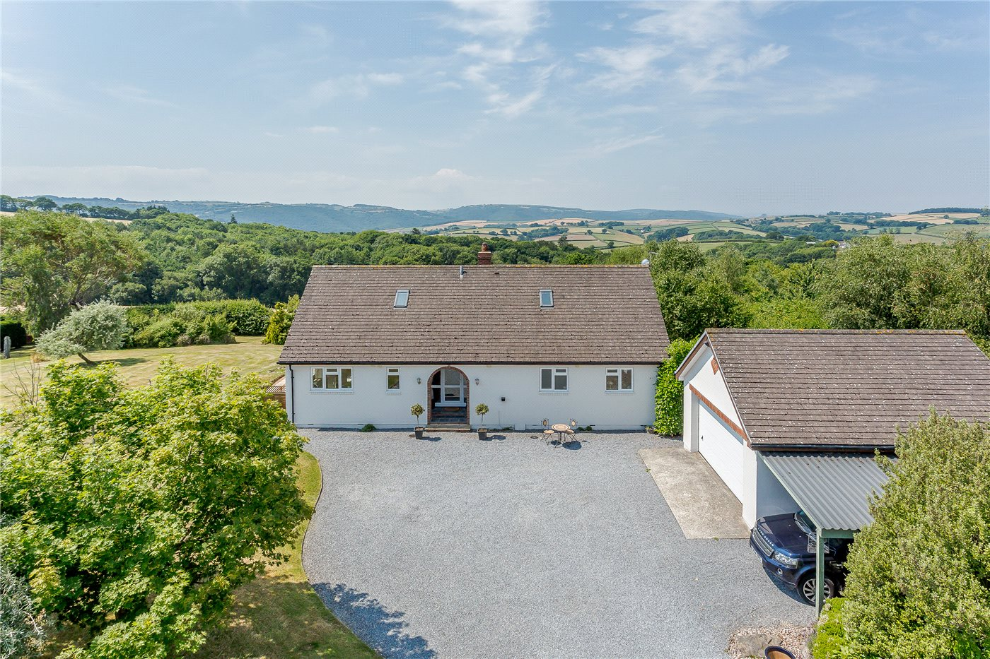A four-bedroom house in 16 acres with some of the best views of Dartmoor.