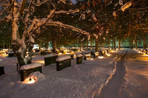 christmas eve cemetary sweden