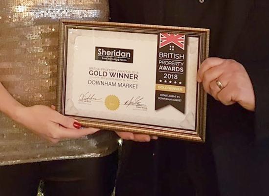 British Property Award 2018 for Sheridan Sales & Lettings