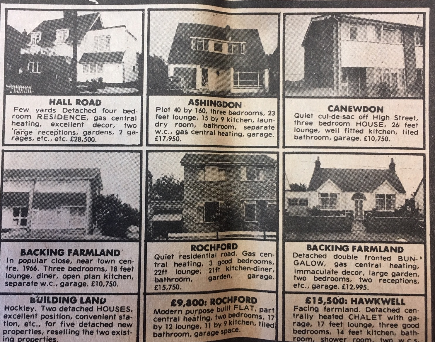 Rochford, House Prices,