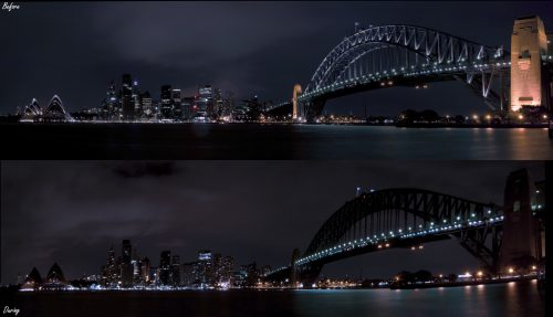 Earth Hour Sydney Harbour Bridge