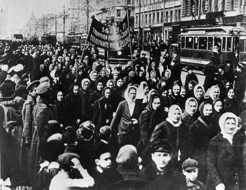 International Women's Day in Petrograd, Russia 1917