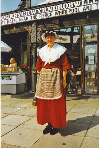 Woman wearing a traditional Welsh dress
