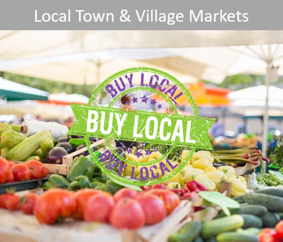 Click for Local Town and Village Markets