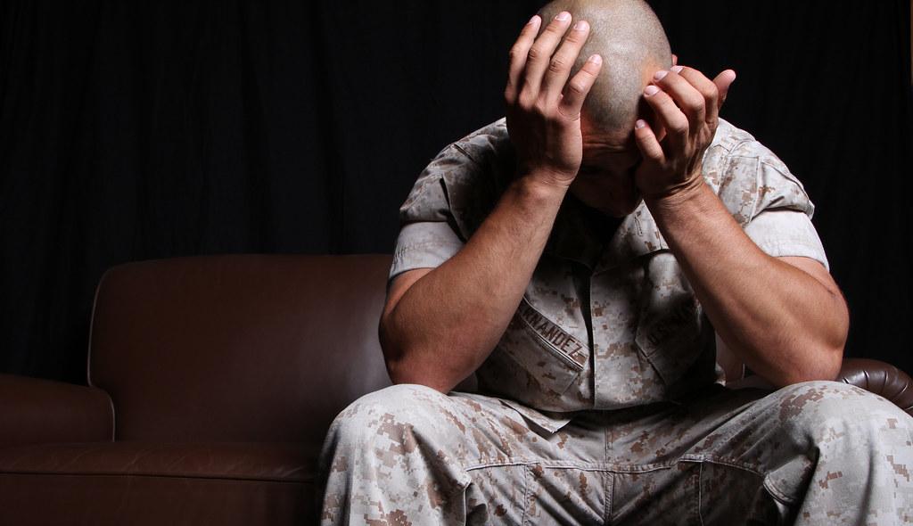 Soldier Battling PTSD