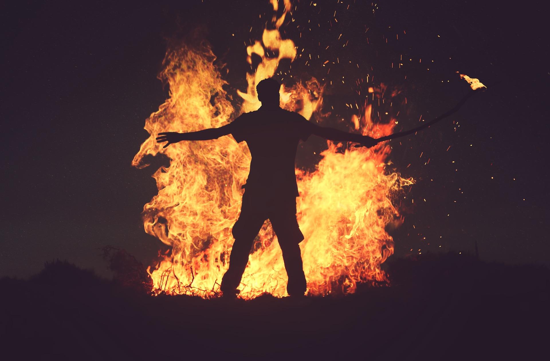 Halloween bonfire gathering