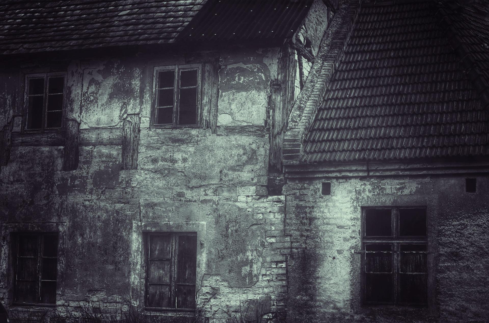 Haunted, abandoned house