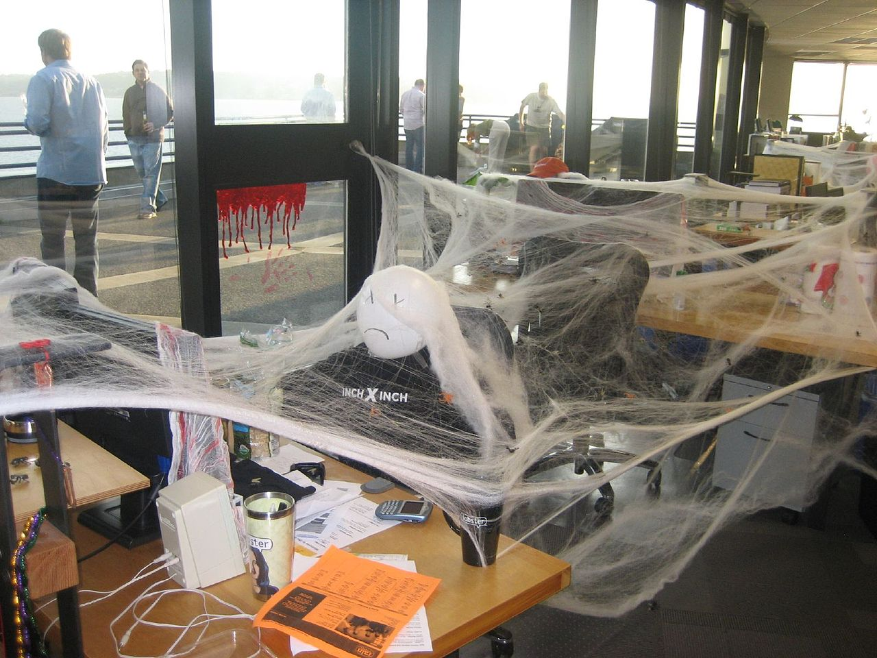 Halloween desk prank