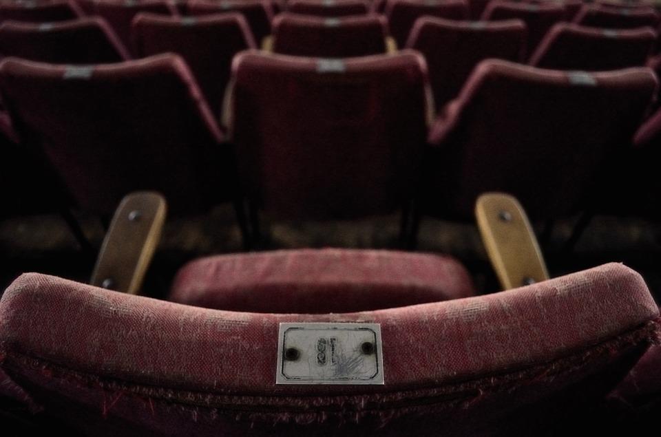 old rugged cinema seat