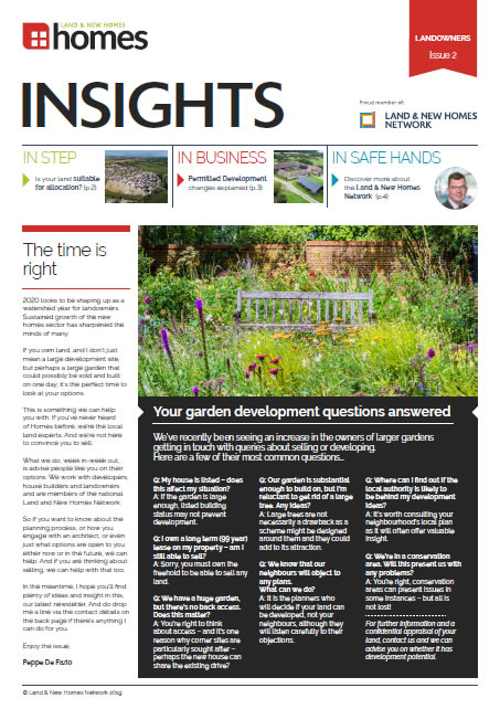 Homes Newsletter for Land and Planning - Issue 2
