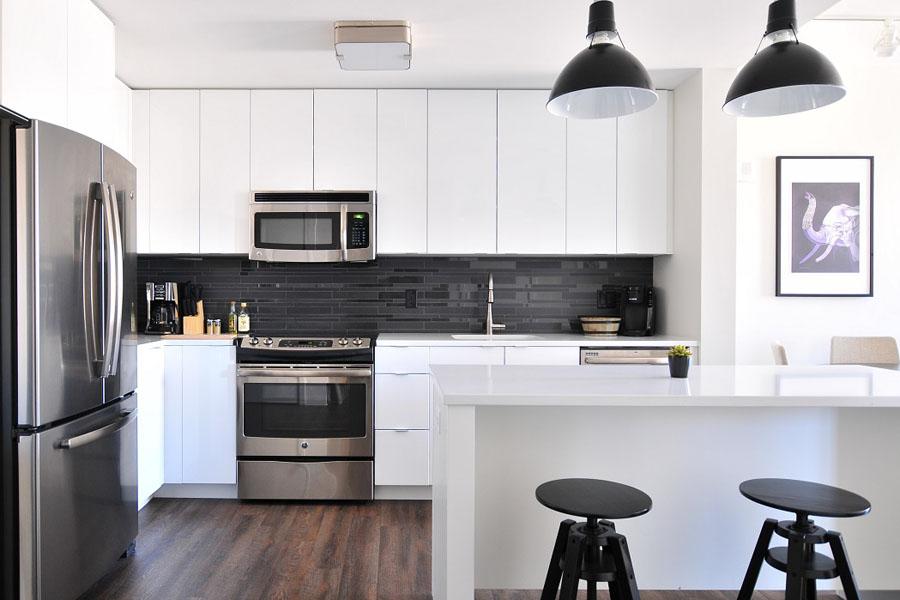 A spacious highend kitchen