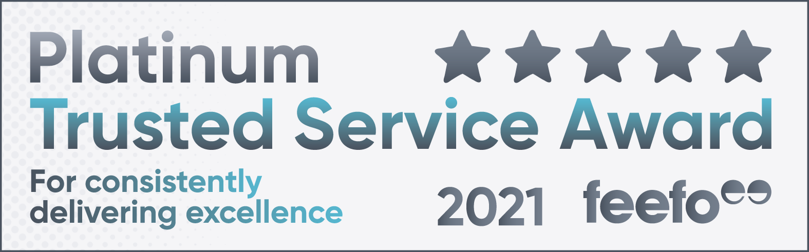Platinum Trusted Service Winners Badge