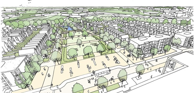 new build homes site plan